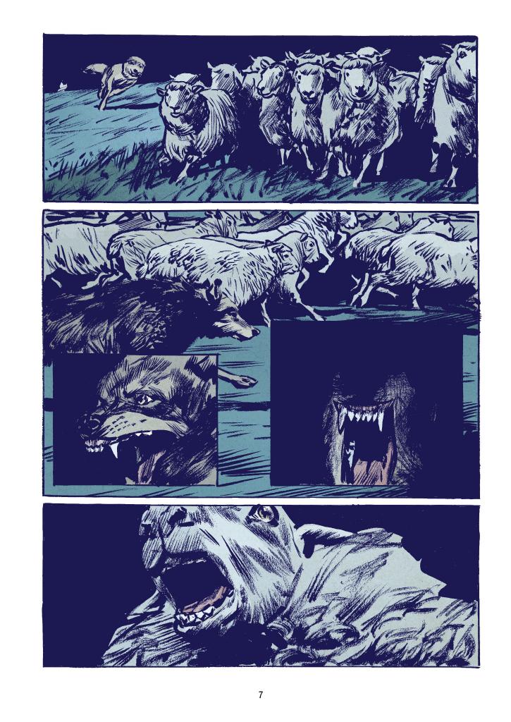 """Recenzje #142 - """"Wilk"""" - przykładowa strona komiksu 2 - Francuski przy kawie"""