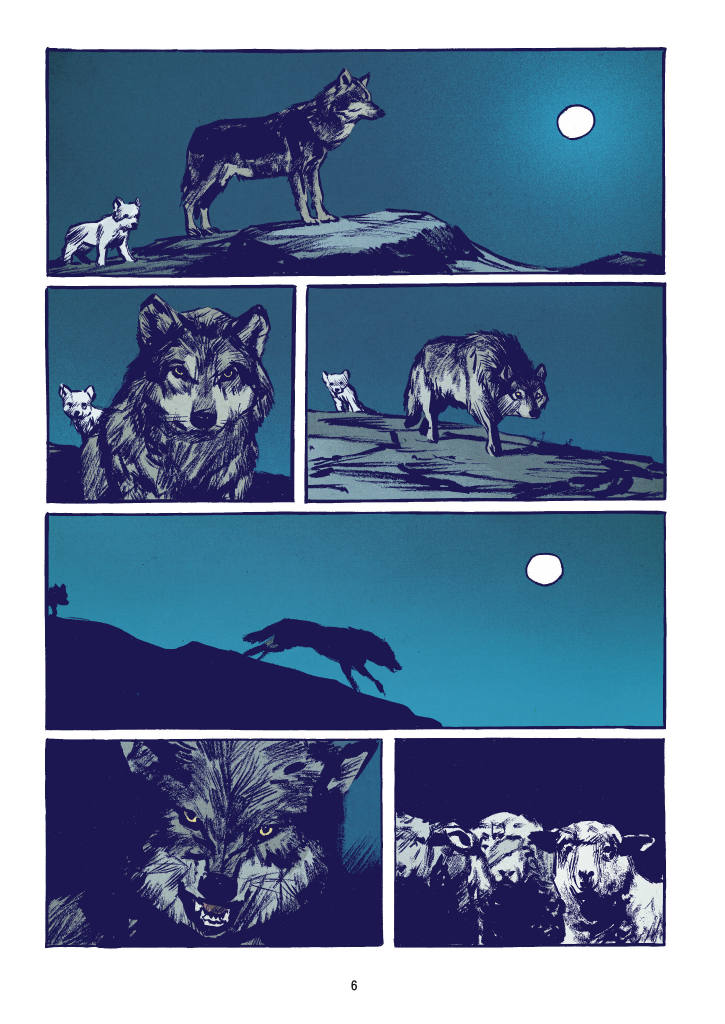 """Recenzje #142 - """"Wilk"""" - przykładowa strona komiksu 1 - Francuski przy kawie"""