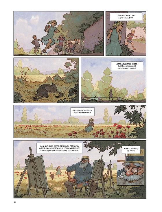 """Recenzje #148 - """"Czarne nenufary"""" - przykładowa strona komiksu 2 - Francuski przy kawie"""